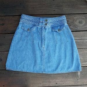 Free People Jean Mini Skirt